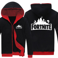 Drop Shipping Men S Zipper Hoodies Game Fortnite Printed Mens Jackets Fleece Hoody Sweatshirts Brand Clothing