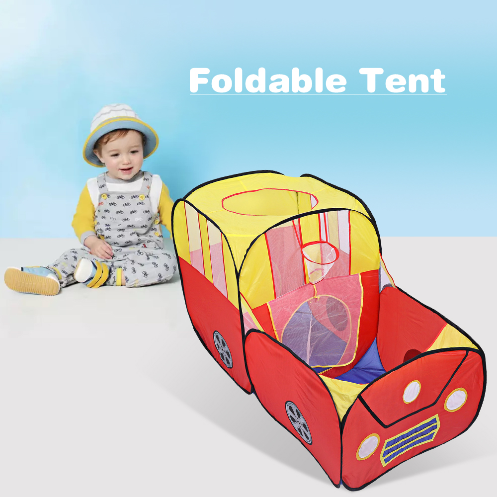 цена Play Tent Baby Outdoor Indoor Playhouse Foldable Kids Toys Tents Cartoon Car Play Game House Toy Tents For Children Gifts Cubby
