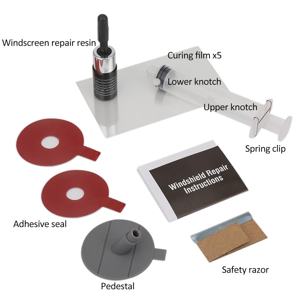 DIY Car Windshield Repair Kit tools Auto Glass Windscreen Repair Cracked Set Give Door Seal Handle Protective Decorative Sticker