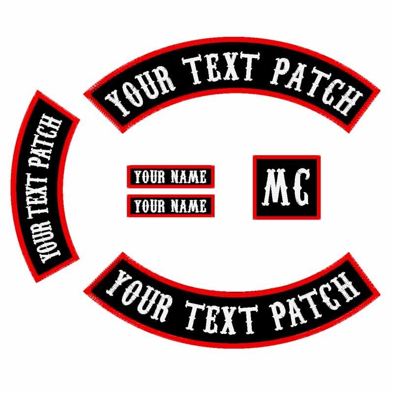 6 PCS 450 MM Large Police Patch Personnalisé Brodé À Bascule De Fer/Coudre sur Patch Veste Rider Moto Biker Patch pour retour Nom Patch