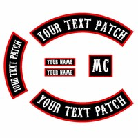 6PCS Font Patch Custom Embroidered Rocker Iron On Sew On Patch Jacket Biker Patch For Back