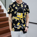 2017 Summer Funny Cool Men Tops Tees T shir 1991INC 3d Print Simpsons T-shirt Male Hip Hop Short Sleeve Camiseta Masculino 90058
