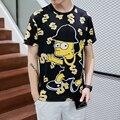2017 Verano Fresco Divertido de Los Hombres Remata camisetas T shir 1991INC 3d imprimir Simpsons T-shirt Hombre de Hip Hop de Manga Corta Camiseta Masculino 90058