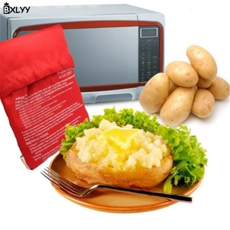 BXLYY Best selling 1pc Microwave Oven Baked Potato Bag Kitchenware Gadgets a Boiled 4 Potatoes 2019 New Year Decoration 7z in Other Kitchen Specialty Tools from Home Garden