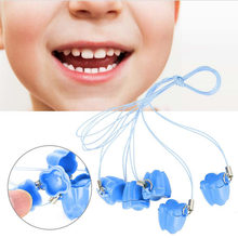 genuine 5pcs/bag baby milk tooth storage box kids teeth storage organizer plastic collect boxes with rope tooth saver necklace(China)