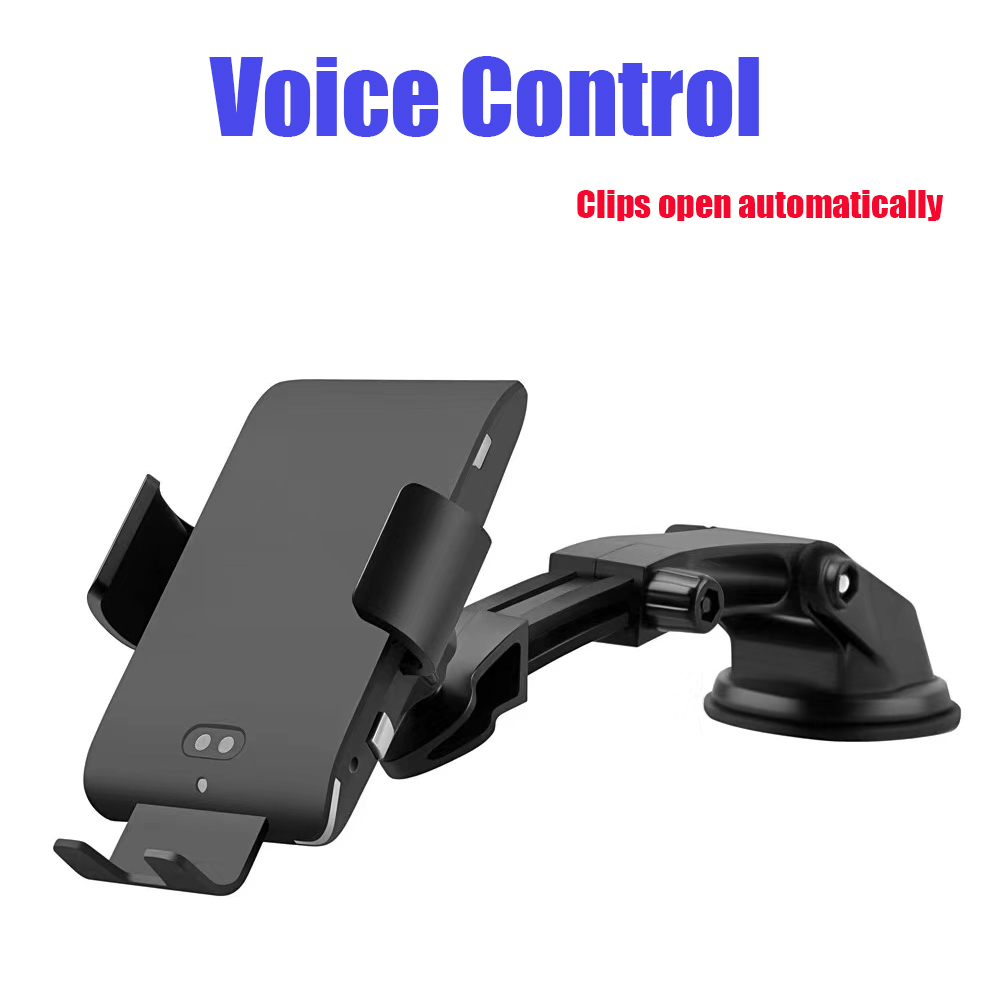 ENMOV commande vocale serrage automatique Qi voiture support pour téléphone chargeur de montage pour iPhone Samsung évent support de téléphone portable pour voiture