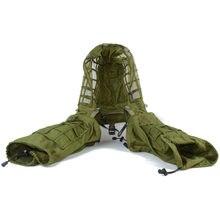 Casaco camuflado com capuz, masculino militar, de combate, para caça, paintball, floresta, seringa ghillie
