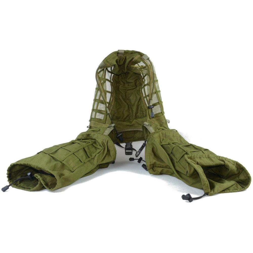 Disguise Sniper Cappotto militare Camouflage Viper Cappuccio Fondazione Combattimento paintball Caccia Ghillie Suit woodland tela String
