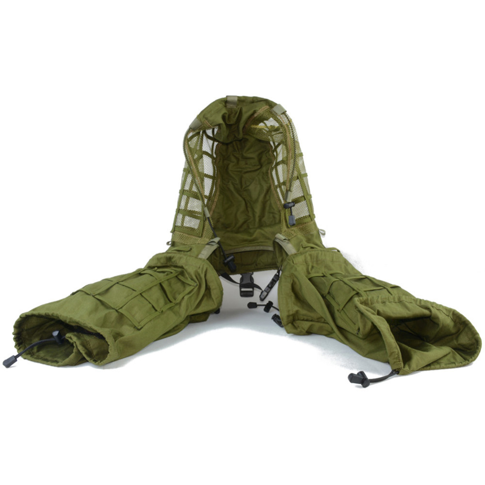 Military Disguise Sniper Coat  Camouflage Viper Hood Foundation Combat Paintball Hunting Ghillie Suit Woodland Burlap String