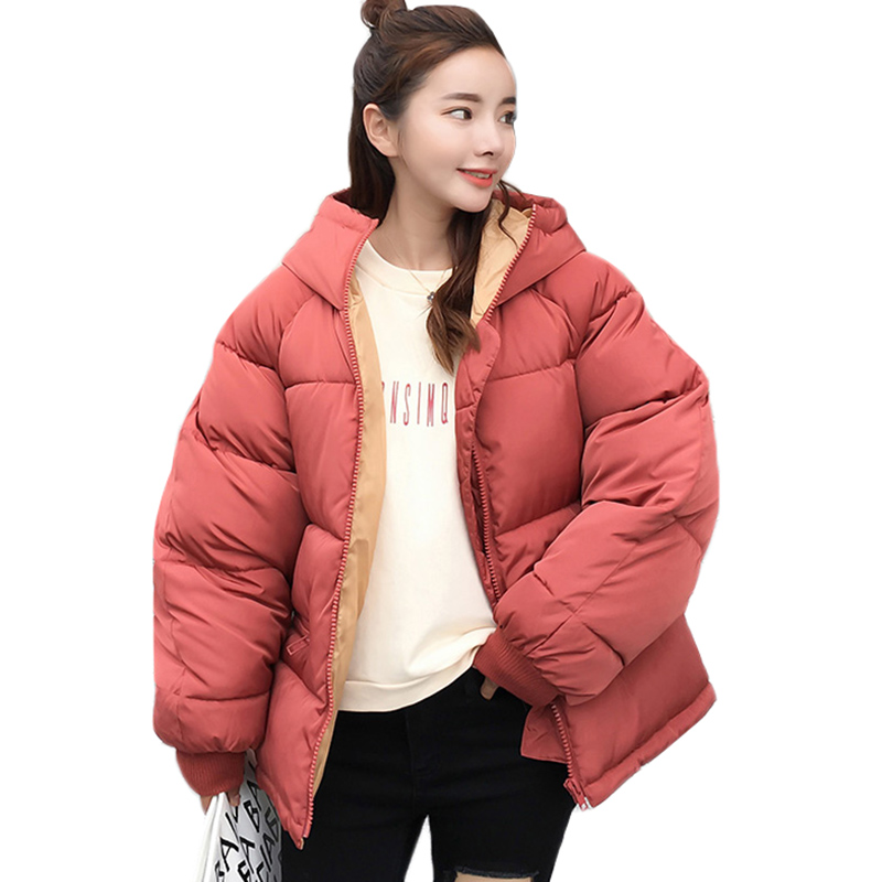 2018 NEW Winter Thick Warm Hooded Down Cotton Parkas