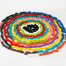 Children Color Sort Rainbow Wood Domino Blocks Early Educational Dominoes Games Educational Toys Gifts For Children Set