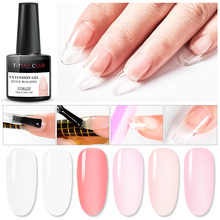 T-TIAO CLUB 7ml Quick Extension Gel Nude Clear Pink White UV Poly Building Polish Nail Tips Art Manicure Soak Off