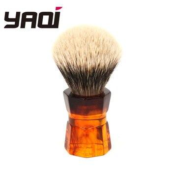 Yaqi 26mm Moka Express dos bandas pelo de tejón cepillo de afeitar de barba para hombre