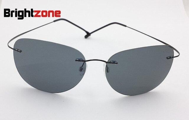 ffccee7673466 Filme Colorido Óculos de sol Piloto óculos de Titânio Memória Sem Aro  Ultra-leve Aro