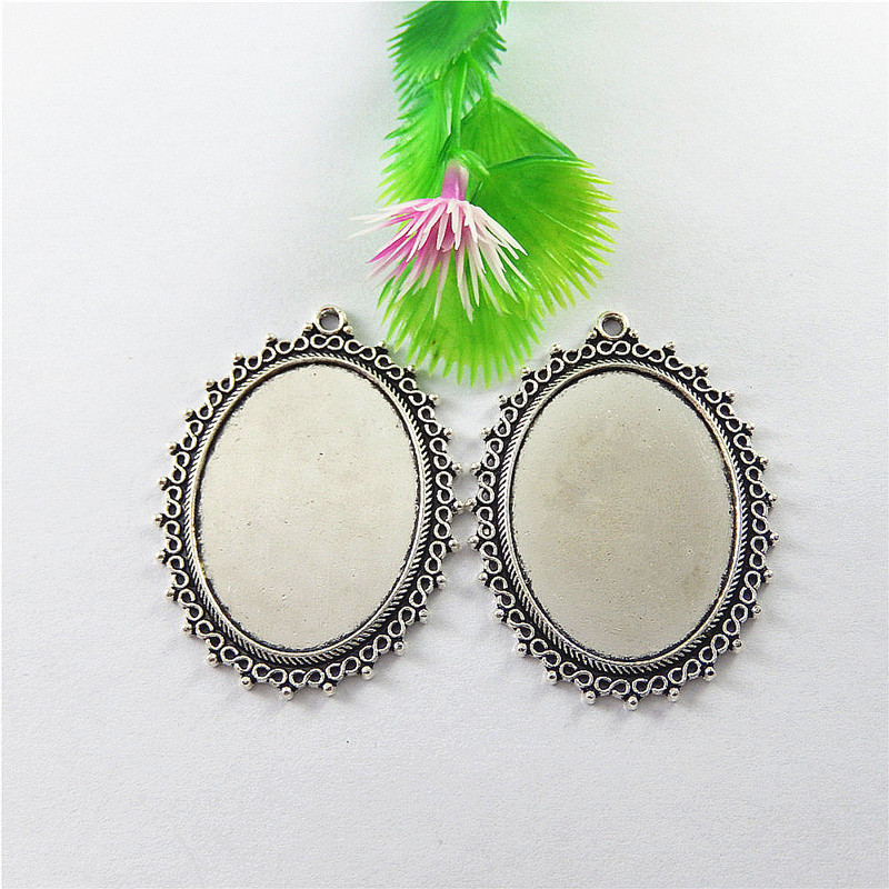 5pcs Antique Silver Oval Cork Base Shaped Jewelry Pendants Charms Finding Vintages Jewelry Making Key Chain Accessary 58*42*2mm