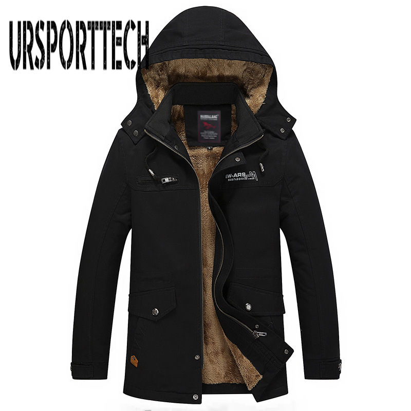 New Autumn Winter Jacket Men's Plush Washing Casual Jacket Large Size Trench Coat Outwear Windproof Hood Man Jackets Men Parkas