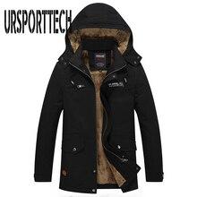 Новая осенне-зимняя куртка мужская плюшевая Стиральная Повседневная куртка большой размер Тренч Верхняя одежда ветрозащитный капюшон мужские куртки мужские парки