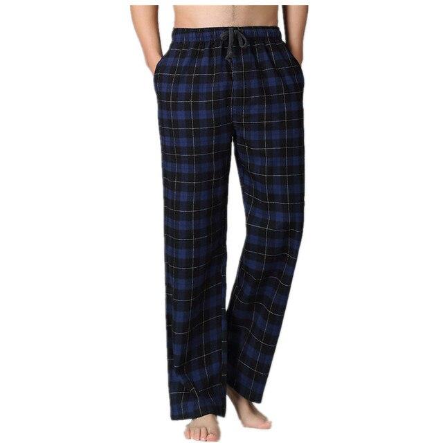 Горячие продажи Весна чистый двойной марля хлопок мужчины удобные сна топы мужчины простой гостиная пижамы главная брюки плюс размер брюки