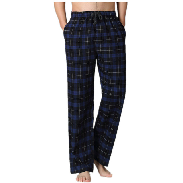 Hot sale Spring pure double gauze cotton male comfortable sleep bottoms men simple pyjama lounge home trousers plus size pants