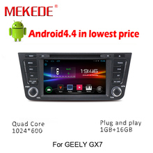 Quad core1024 600 Android 4 4 4 Car DVD GPS Navigation for Geely Emgrand GX7 X7