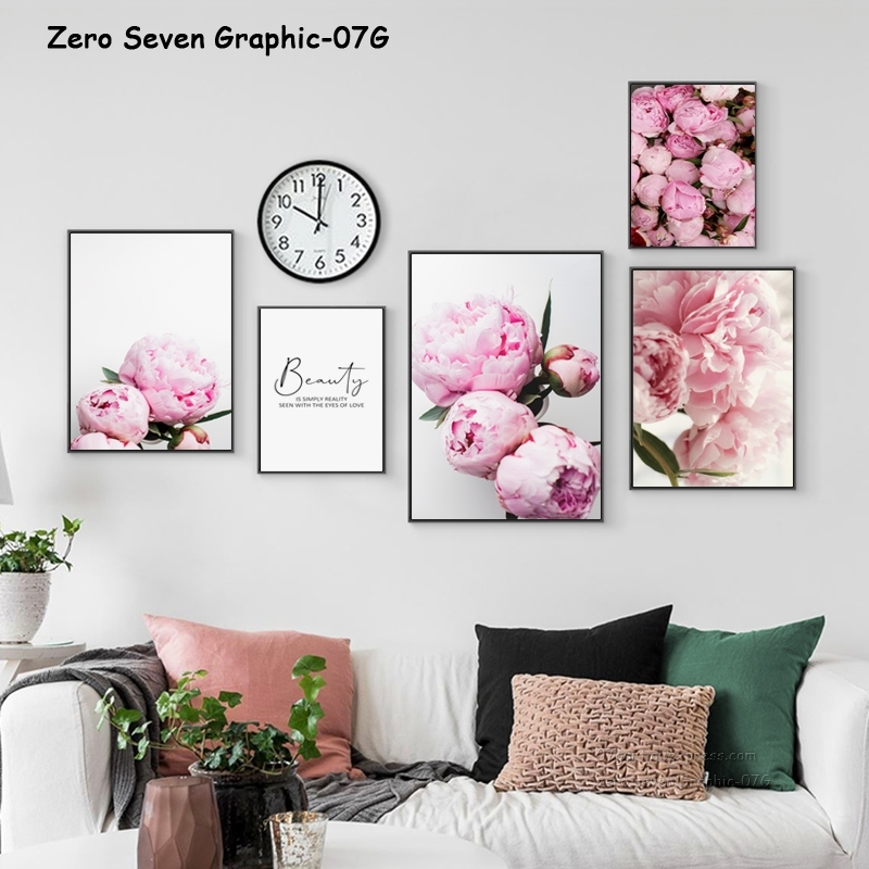 HTB1qflPJ4YaK1RjSZFnq6y80pXaq Canvas Painting Nordic Decor Elegant Peony Flower Phrase Poster And Print Wall Art Picture For Living Room Home Decoration