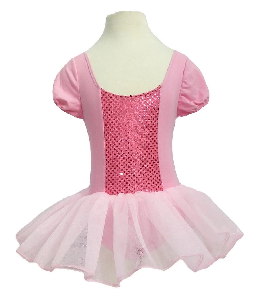 Kids Girls Ballet Lyrical Dress Gymnastics Leotards Sequins Dancewear Costume