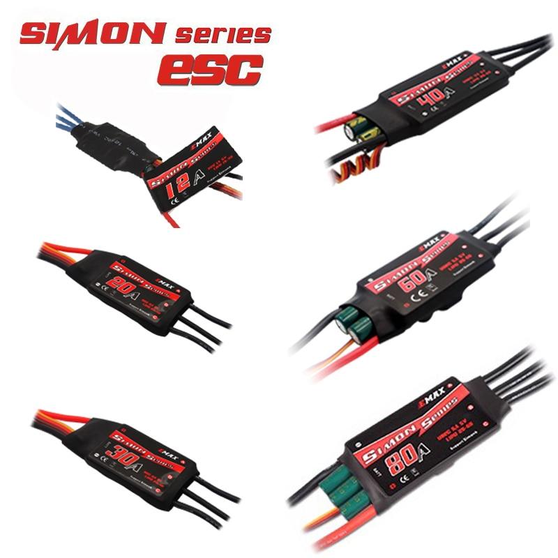 1 unids/4 unids Emax simonk 12a 20a 30a 40a 60a 80a BEC controlador de velocidad sin escobillas Esc para FPV quadcopter drone Kit