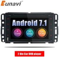 Eunavi 7 ''2 Din Android 7,1 dvd плеер автомобиля Радио Стерео gps для GMC Yukon Tahoe Acadia Chevrolet Tahoe, Buick 2007 2012