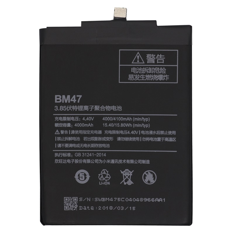 For Xiao <font><b>Mi</b></font> Phone <font><b>Battery</b></font> BM47 High Quality Capacity 4000mAh Replacement <font><b>Battery</b></font> For Redmi 3 3S 3X <font><b>4X</b></font> 3 pro Hongmi 3 S 4 X image