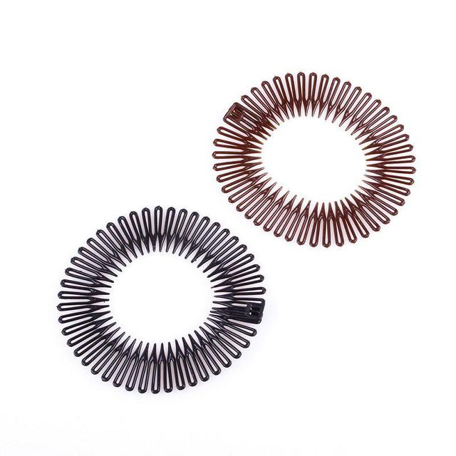 5Pcs/Lot Plastic Full Circle Stretch Flexible Comb Teeth Headband Hair Band Clip Accessories #40988