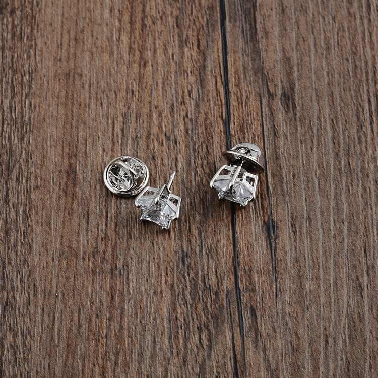 1 Pcs Vintage Perak Warna Lucu Kecil Zirkon Bintang Bros Wanita Trendi Elegan Crystal All-Match Perhiasan Rhinestone Syal Pin