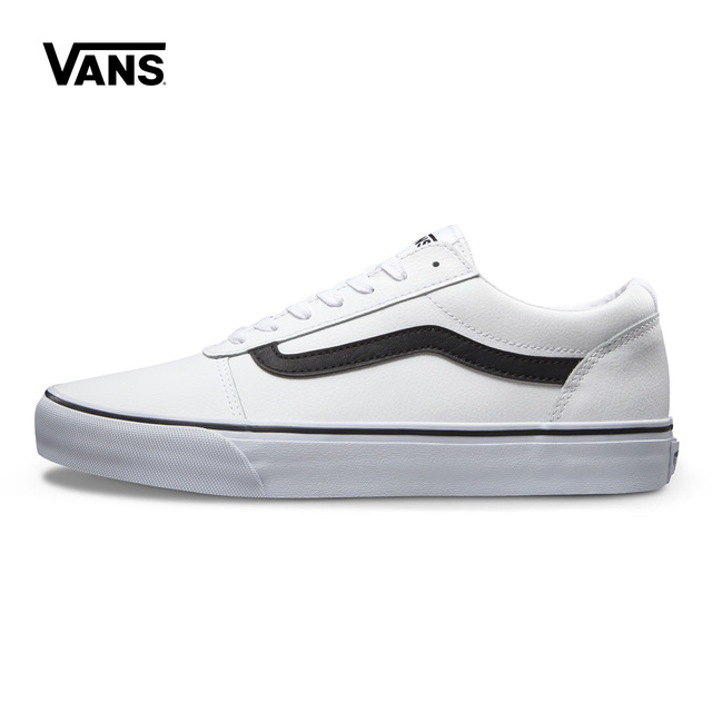 b54d498d82 US $149.98 |Original New Arrival Vans Men's White Active Ward Low top  Skateboarding Shoes Sneakers Outdoor Canvas Comfortable VN0A38DMNJV-in ...
