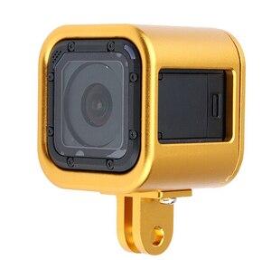 Image 4 - Ir pro Câmera acessórios 2016 novo quadro Da Câmera Gopro Hero 4 Sessão de Alumínio shell de Protecção com Rápida Fivela