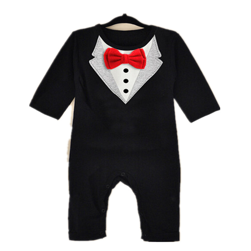 Newborn Infant Baby Boy Girl Cotton Romper Baby Long Sleeve Little Gentleman Bow Tie Rompers 2017 New Kids Bebes Tracksuit 0-3Y baby rompers baby clothing fashion summer cotton infant jumpsuit newborn long sleeve girl boys rompers costumes bebes romper