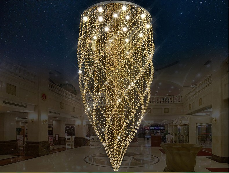 Free Shipping Chandeliers,Crystal Pendant Lamp First-Level K9 Crystal Chandelier For Living Room With G10 Bulbs,LED Bulbs
