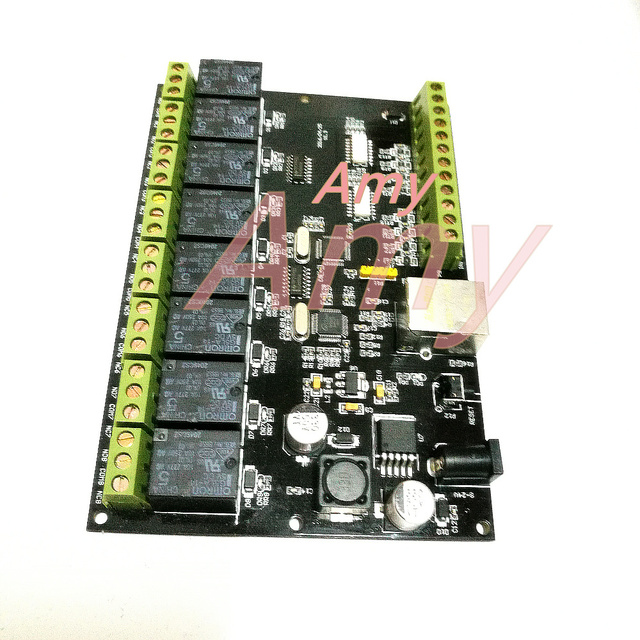 8 way network relay IP Ethernet access controller MODBUS TCP 8