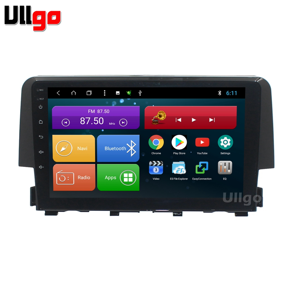 10 1 inch octa core android car dvd gps for honda civic. Black Bedroom Furniture Sets. Home Design Ideas