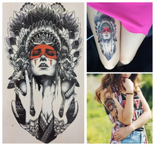 21 X 15 CM Ancient Women Sexy Cool Beauty Tatoo Waterproof Hot Temporary Tattoo Stickers#110