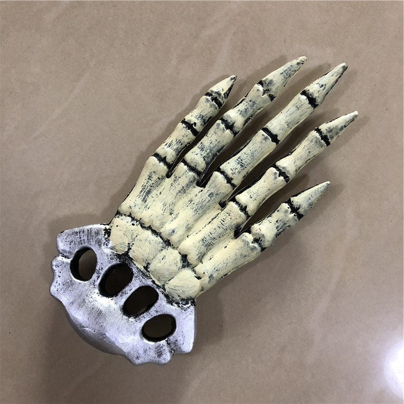 1:1 Cosplay Weapon Prop White Skeleton Palm Scary Paw Movie Game Anime Role Play Halloween Link Cos Kids Gift Safety PU 34
