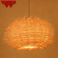 Nordic village style/Southeast Asia style hand knitting rattan art Chandelier Modern rural E27LED lamp for porch stairs corridor
