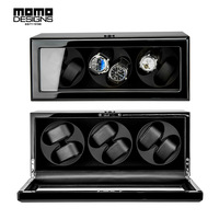 Deluxe Watch Winder Box For 6 Automatic Watches With TPD 9 Programs With Door Sensor Function