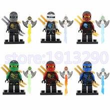 Phantom Ninja Turtles Skylor Chen Zane Minifigures Building Blocks Bricks Mini Figure Kids Enlighten Educational Model Toys Gift