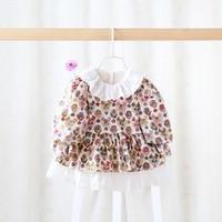 In de herfst van 2016 nieuwe leuke kinderen dragen zoete jurk in baby baby meisjes kleding baby pluizige mouw jurk voor pasgeboren
