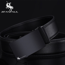 JIFANPAUL leather belt mens high quality black classic design metal automatic buckle free shipping
