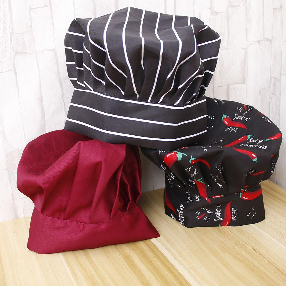 HEALMEYOU Cook Adjustable Men Kitchen Baker Chef Elastic Cap Hat Catering Comfortable