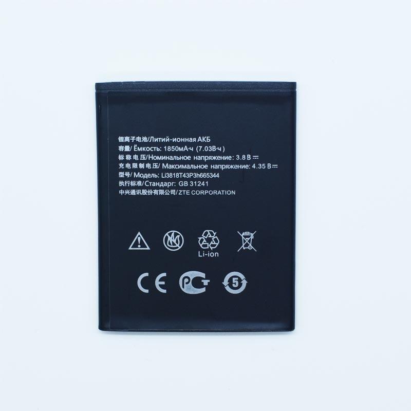Hekiy 2018 New Battery Li3818T43P3h665344 3.8V 1850mAh Battery for ZTE TWM AMAZING A5S Blade GF3 T320 mobile phone + Track Code