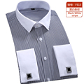 hot Brand Guaranteed  Men's Striped Formal men wedding dress shirt brand long sleeve shirts men camisa social masculina