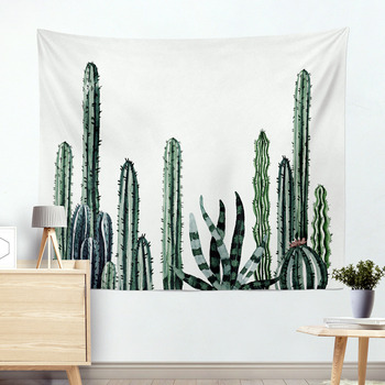Wall Hanging Cactus Tapestry Cotton Bohemian 200*150cm Cover Beach Towel Throw Blanket Picnic Yoga Mat Home Decoration Textiles 1