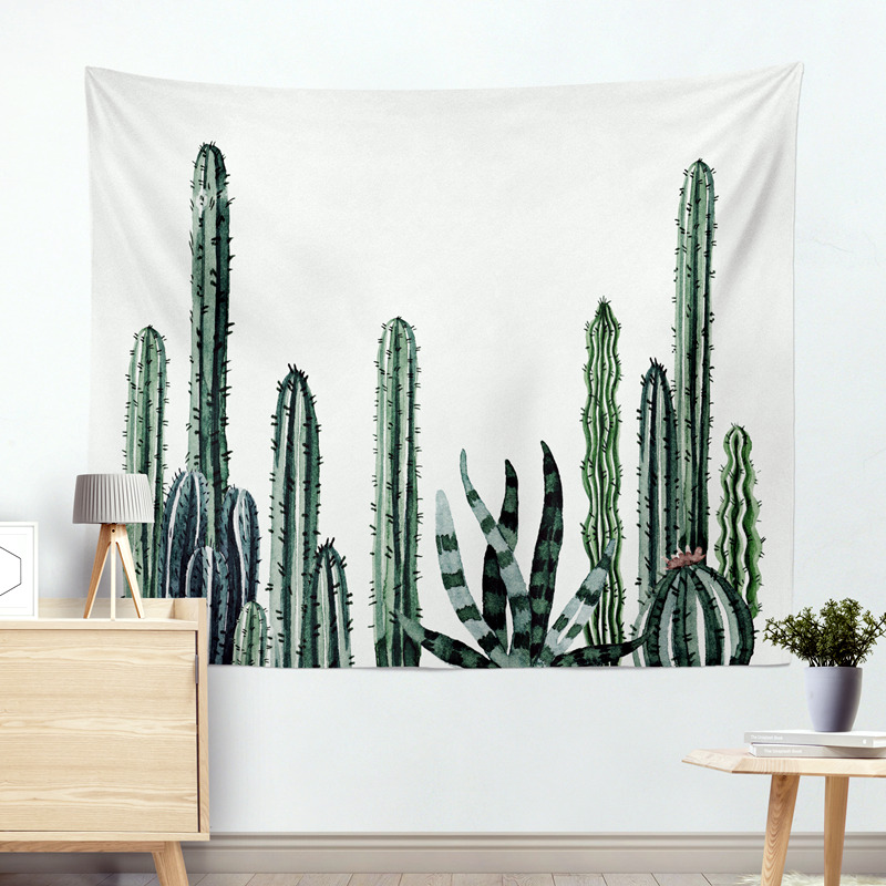 Wall Hanging Cactus Tapestry Cotton Bohemian 200*150cm Cover Beach Towel Throw Blanket Picnic Yoga Mat Home Decoration Textiles