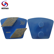 RIJILEI 35*10mm*2T Trapezoid Metal Diamond Concrete Grinding Pad Scraper for strong magnetic plate of floor grinder P50